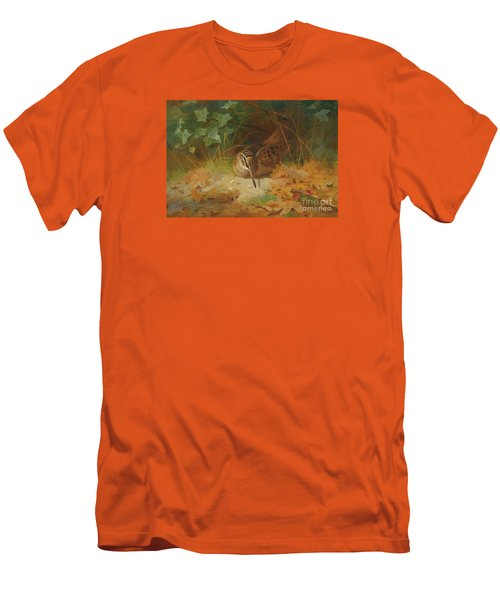 Woodcock Men's T-Shirt (Slim Fit) by Celestial Images