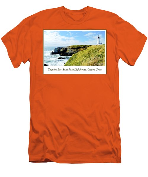 Men's T-Shirt (Slim Fit) featuring the photograph Yaquina Bay Lighthouse Oregon by A Gurmankin