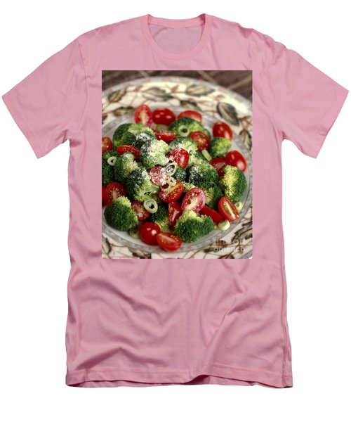 Broccoli And Tomato Salad Men's T-Shirt (Slim Fit) by Iris Richardson