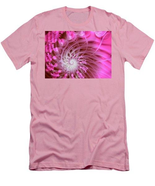 Pink Men's T-Shirt (Slim Fit) by Lena Auxier