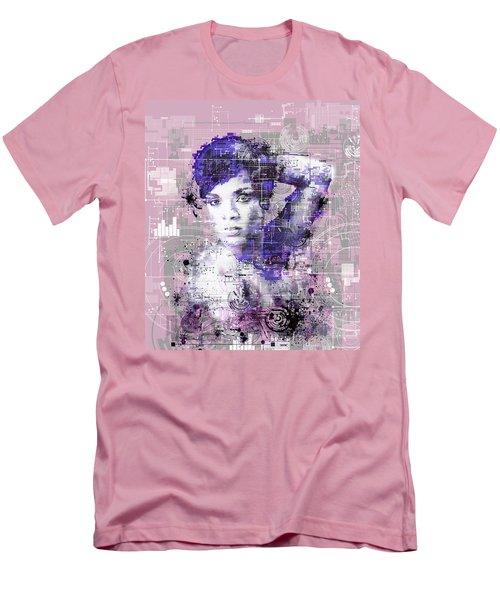 Rihanna 3 Men's T-Shirt (Slim Fit) by Bekim Art