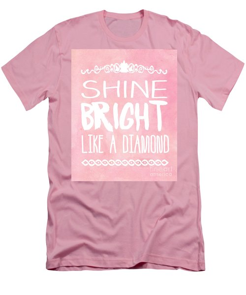 Shine Bright Men's T-Shirt (Slim Fit) by Pati Photography