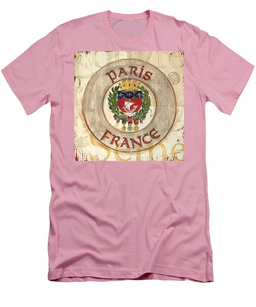French Coat Of Arms Men's T-Shirt (Slim Fit) by Debbie DeWitt