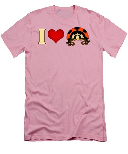 I Love Ladybugs Men's T-Shirt (Slim Fit) by Sarah Greenwell
