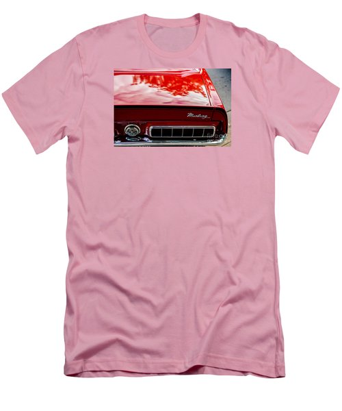 Men's T-Shirt (Slim Fit) featuring the photograph 1967 Mustang by M G Whittingham