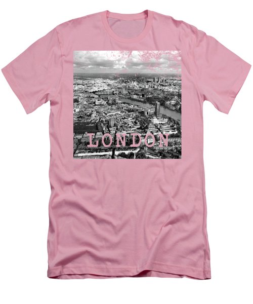 Aerial View Of London Men's T-Shirt (Slim Fit) by Mark Rogan