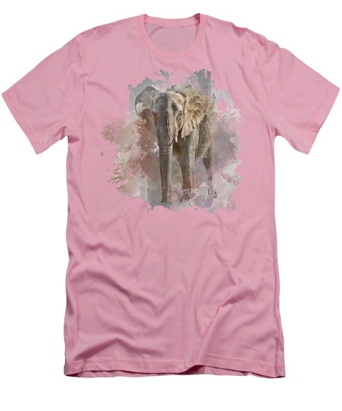 African Elephant - Transparent Men's T-Shirt (Slim Fit) by Nikolyn McDonald