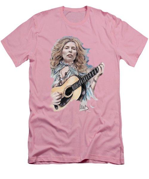 Joni Mitchell Men's T-Shirt (Slim Fit) by Melanie D