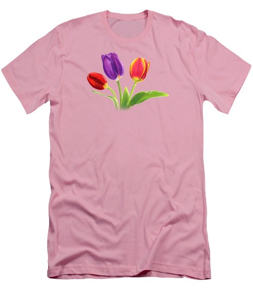 Tulip Trio Men's T-Shirt (Slim Fit) by Sarah Batalka