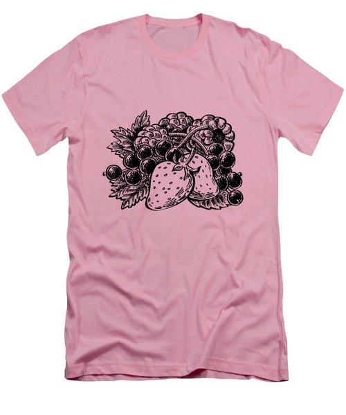 Berries From Forest Men's T-Shirt (Slim Fit) by Irina Sztukowski