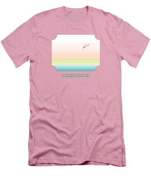 Endless Summer - Pink Men's T-Shirt (Slim Fit) by Gill Billington