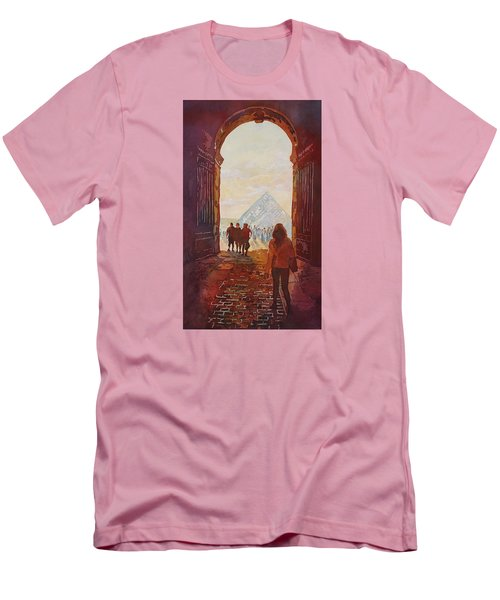 Evening At The Louvre Men's T-Shirt (Slim Fit) by Jenny Armitage