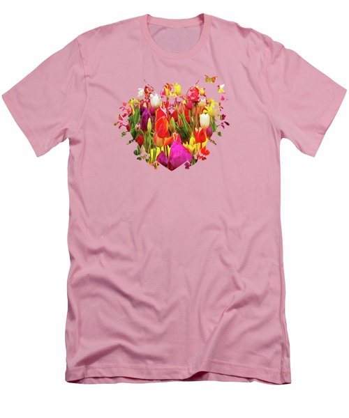 Field Of Tulips Men's T-Shirt (Slim Fit) by Thom Zehrfeld