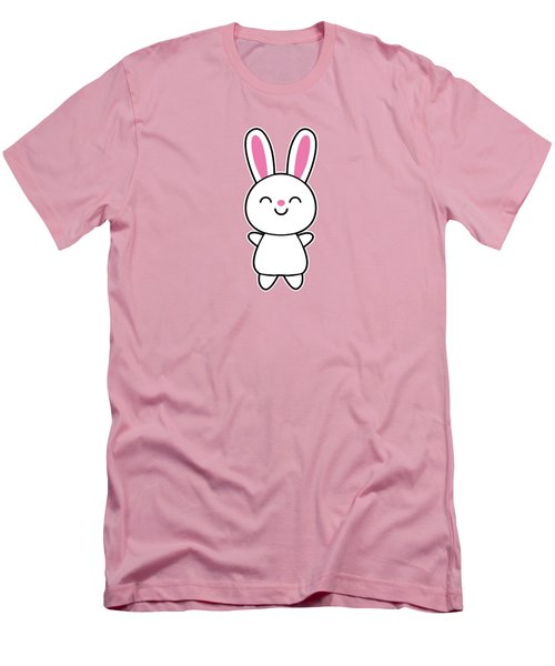 Funny Cute Rabbit Bunny In Pink Men's T-Shirt (Slim Fit) by Philipp Rietz