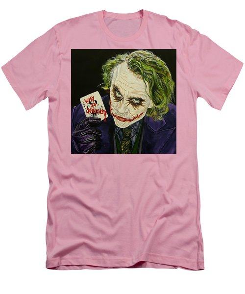 Heath Ledger The Joker Men's T-Shirt (Slim Fit) by David Peninger
