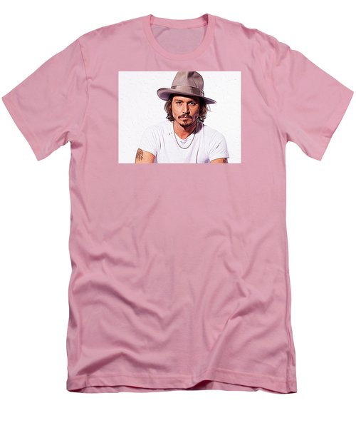 Johnny Depp Men's T-Shirt (Slim Fit) by Iguanna Espinosa