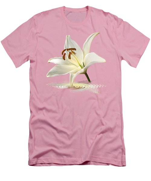 Lily Trumpet Men's T-Shirt (Slim Fit) by Gill Billington