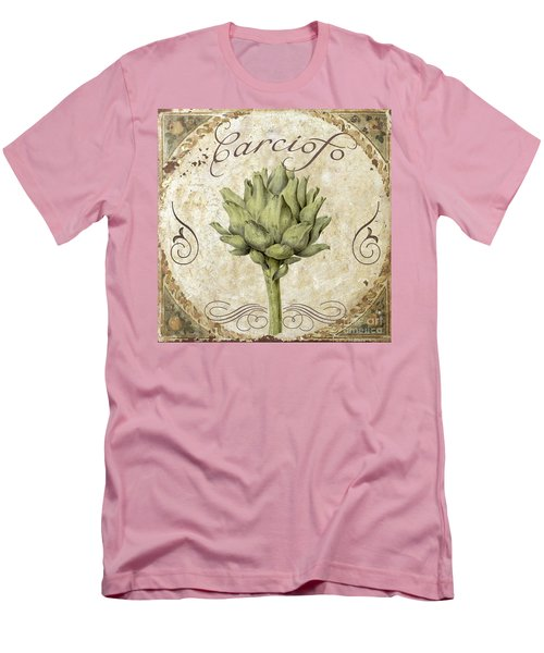 Mangia Carciofo Artichoke Men's T-Shirt (Slim Fit) by Mindy Sommers