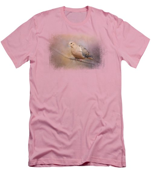 Mourning Dove On A Winter Evening Men's T-Shirt (Slim Fit) by Jai Johnson
