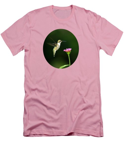 One Hummingbird Men's T-Shirt (Slim Fit) by Christina Rollo