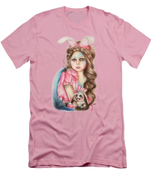 Only Friend In The World - Bunny Men's T-Shirt (Slim Fit) by Sheena Pike
