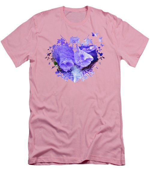 Pretty Purple Men's T-Shirt (Slim Fit) by Anita Faye