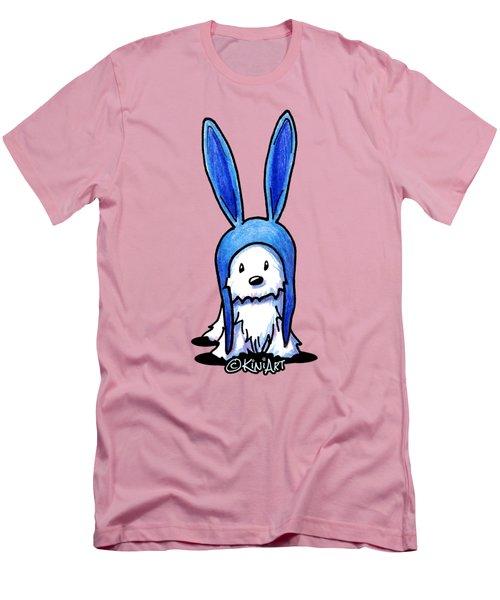 Rabbit Ears Westie Men's T-Shirt (Slim Fit) by Kim Niles