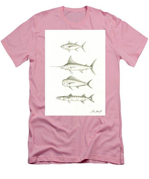 Saltwater Gamefishes Men's T-Shirt (Slim Fit) by Juan Bosco