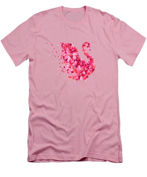 Swan Men's T-Shirt (Slim Fit) by Aloke Design