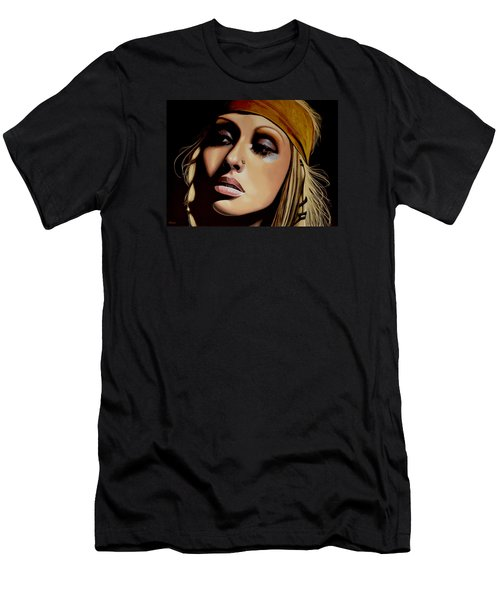 Christina Aguilera Painting Men's T-Shirt (Slim Fit) by Paul Meijering
