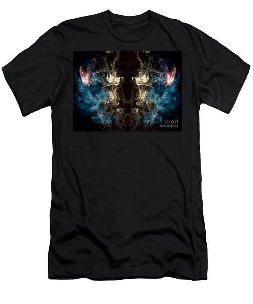 Minotaur Smoke Abstract Men's T-Shirt (Slim Fit) by Edward Fielding
