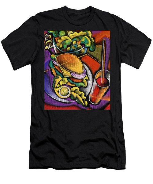 Dinner Men's T-Shirt (Slim Fit) by Leon Zernitsky