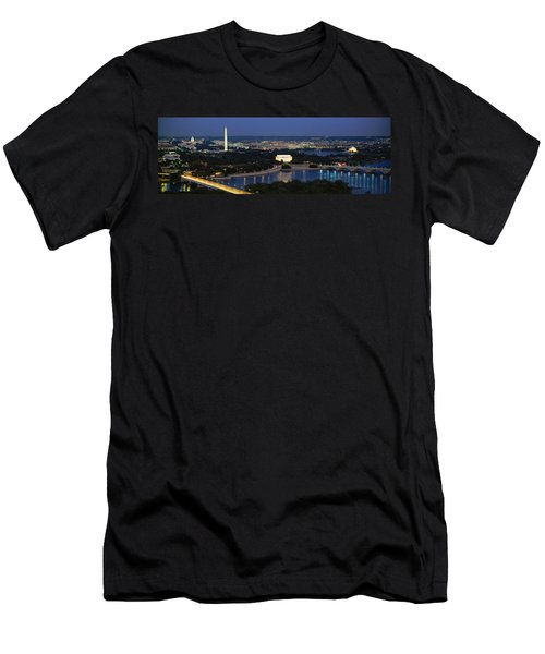 High Angle View Of A City, Washington Men's T-Shirt (Slim Fit) by Panoramic Images
