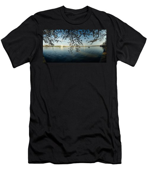 Monument At The Waterfront, Jefferson Men's T-Shirt (Slim Fit) by Panoramic Images