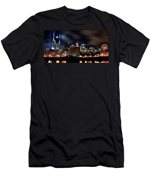 Nashville Panoramic View Men's T-Shirt (Slim Fit) by Frozen in Time Fine Art Photography