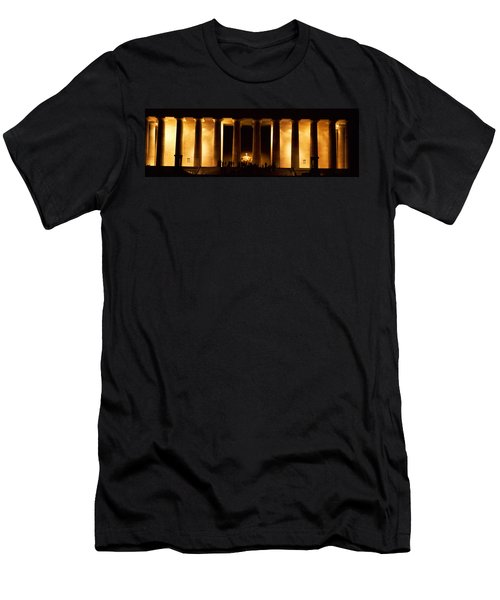 Statue Of Abraham Lincoln Men's T-Shirt (Slim Fit) by Panoramic Images