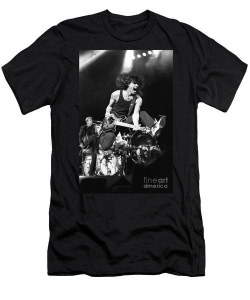Van Halen - Eddie Van Halen Men's T-Shirt (Slim Fit) by Concert Photos