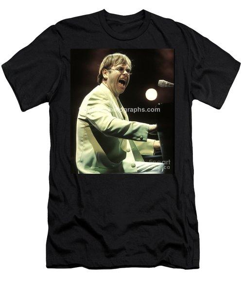 Elton John Men's T-Shirt (Slim Fit) by Concert Photos