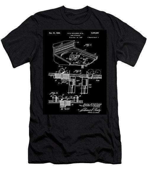 Pinball Machine Patent 1939 - Black Men's T-Shirt (Slim Fit) by Stephen Younts