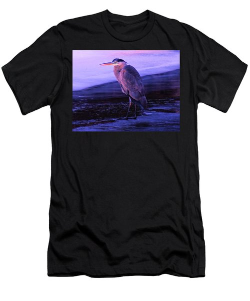 A Heron On The Moyie River Men's T-Shirt (Slim Fit) by Jeff Swan