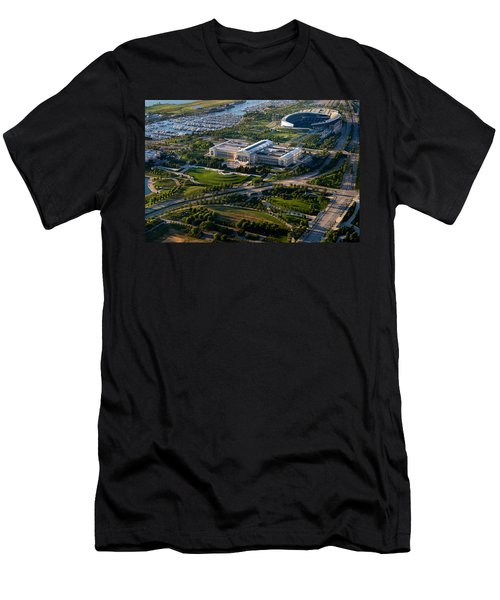 Aerial View Of The Field Museum Men's T-Shirt (Slim Fit) by Panoramic Images