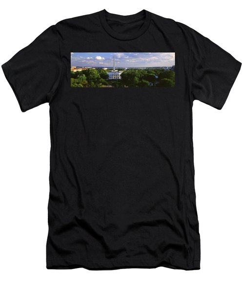 Aerial, White House, Washington Dc Men's T-Shirt (Slim Fit) by Panoramic Images