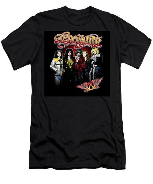 Aerosmith - 1970s Bad Boys Men's T-Shirt (Slim Fit) by Epic Rights