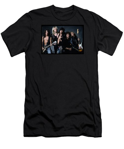 Aerosmith - Let The Music Do The Talking 1980s Men's T-Shirt (Slim Fit) by Epic Rights