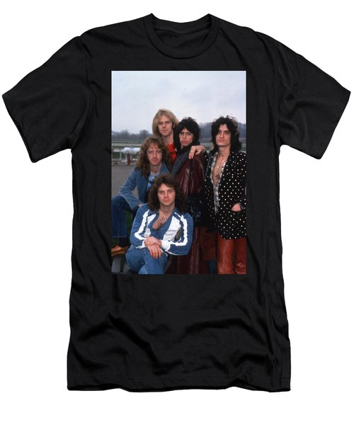 Aerosmith - Terre Haute 1977 Men's T-Shirt (Slim Fit) by Epic Rights
