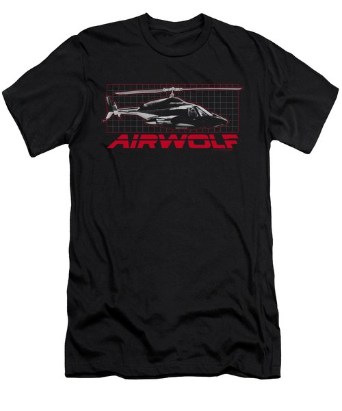 Airwolf - Grid Men's T-Shirt (Slim Fit) by Brand A