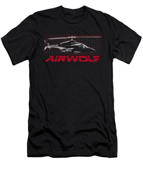Airwolf - Grid Men's T-Shirt (Slim Fit) by Brand A