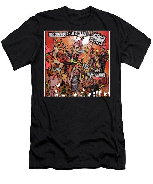 Alien Nation Men's T-Shirt (Slim Fit) by Lisa Piper Menkin Stegeman