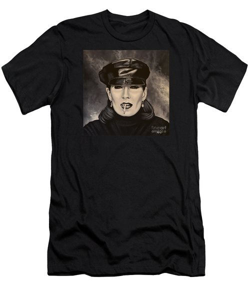 Anjelica Huston Men's T-Shirt (Slim Fit) by Paul Meijering
