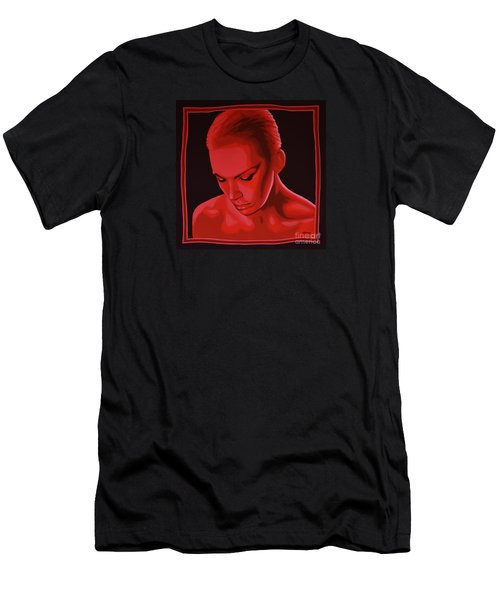 Annie Lennox Men's T-Shirt (Slim Fit) by Paul Meijering